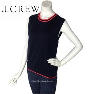 J. Crew NWT tipped Caryn cotton shell